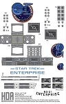 NX-01 ENTERPRISE 1:350 SCALE DECALS FOR THE PARAGRAFIX PHOTO-ETCH SET